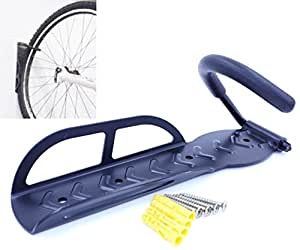 自転車 壁掛け フック 縦収納 バイク ハンガー ディスプレイ ラック 【 可動式 / 固定式 から選べます】 1個セット (約70°固定式)