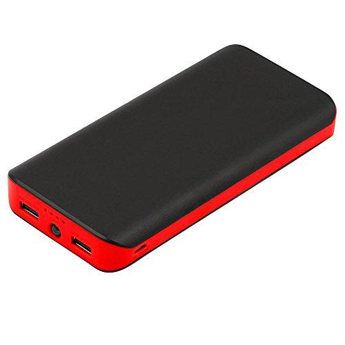 PowerBetter 25000mAh モバイルバッテリー 大容量 USB2ポート スマホ急速充電器 LEDライト付き iPhone/iPad/Android各種機種対応 ブラック レッド(ブラック&レッド)