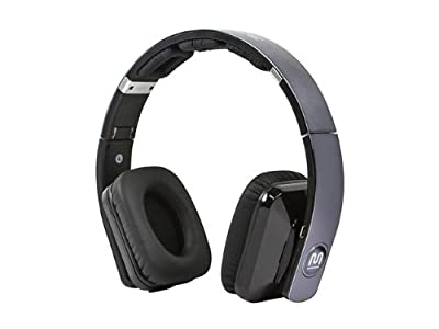 Monoprice Premium Virtual Surround Sound Bluetooth On-the-Ear Headphones with Apt-X - Retail Packaging - Black