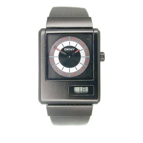 DKNY NY1288 - Reloj analógico de cuarzo para mujer con correa de metal, color negro