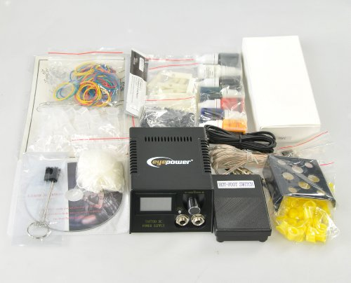 Premium tattoo kit 4 gun tattoo machine kit tattoo gun kit for Eyepower tattoo kit