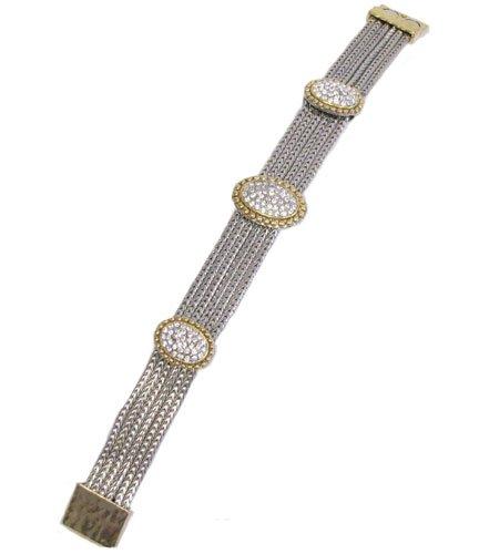 Designer Inspired Triple Oval Pendant Bracelet