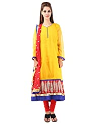 Imple Boutique Women's Kota Silk Salwar Suit Set (IBA-33)