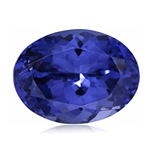 1.08-1.38 Cts of 7.5x5.5 mm AAAA ( Heirloom ) Oval Genuine Natural Arusha Tanzanite ( 1 pc ) Loose Gemstone