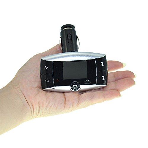 """3,81 cm (1,5"""") schermo LCD Global-Kit Bluetooth auto per lettore MP3, WIRELESS, trasmettitore modulatore FM, USB, SD, MMC con telecomando"""