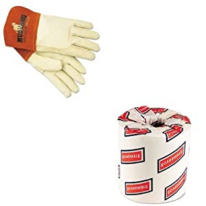 KITBWK6180MPG4950M - Value Kit - Memphis Mustang Mig/Tig Welder Gloves (MPG4950M) and White 2-Ply Toilet Tissue, 4.5quot; x 3quot; Sheet Size (BWK6180) by Memphis