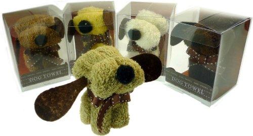 Cute Puppy Dog Face Cloth/Towel Novelty Gift - 1 x Cream