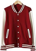 Muqi Unisex Blank Varsity Jacket Baseball Coat