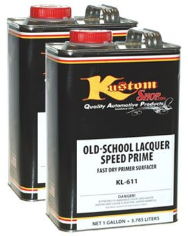 Old-School Lacquer Speed Prime Kit Gray Kustom Shop Speed Primer Makes 2 gallons