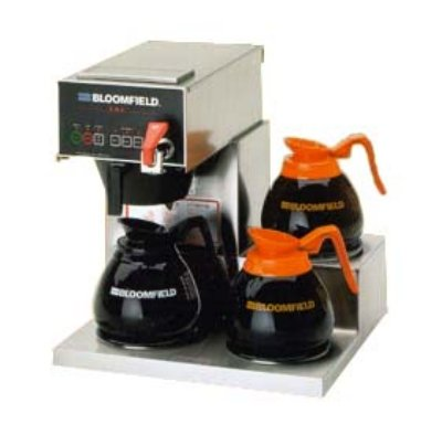 "Bloomfield 1072D3F E.B.C Coffee Brewer, Automatic, Three Warmer, 17"" Depth, 16 1/4"" Width, 16 7/8"" Height"