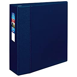 Avery Heavy-Duty Binder with 4-Inch One Touch EZD Ring, Navy Blue (79824)