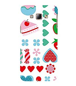 KIDDISH PATTERN IN A WHITE BACK GROUND 3D Hard Polycarbonate Designer Back Case Cover for Samsung Galaxy A8 :: Samsung Galaxy A8 A800F (2015)