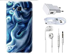 Spygen Samsung Galaxy J5 Combo of Premium Quality Designer Printed 3D Lightweight Slim Matte Finish Hard Case Back Cover + Charger Adapter + High Speed Data Cable + Premium Quality Handfree