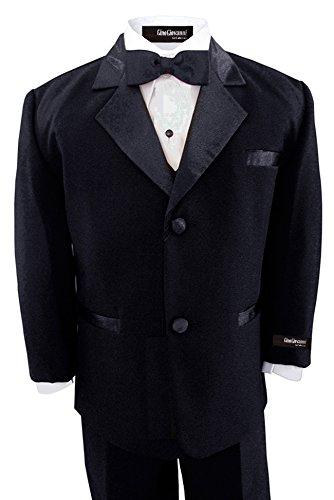 Gino Giovanni Black Usher Boy Tuxedo Set Size 8