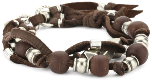 Ettika Men's Brown 3 Strand Leather Bracelet
