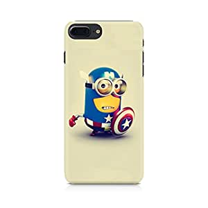 PRINTASTIC PR_187 Captain America Minion APPLE Iphone-7 Plus Back Case/Cover -Amazing colors & long lasting prints, High-resolution, Matte Finished and soft to touch, 3D Printed, Polycarbonate Material, Scratch resistant, Water resistant, Dust resistant, Fadeproof Mobile Hard Back Case/Covers