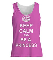 Snoogg Keep Calm Princess Womens Tunic Casual Beach Fitness Vests Tank Tops Sleeveless T shirts