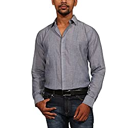 Provogue Men's Casual Shirt (8903522434594_103393-BL-24_X-Large_Blue)