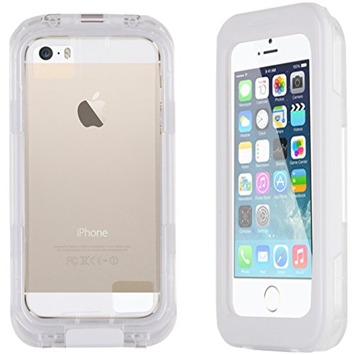 JAMMYLIZARD | Cover custodia SALAMANDER Impermeabile Waterproof per iPhone 4 e 4s, 5 e 5s, SE, 5C, BIANCO