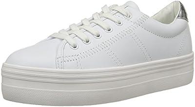 No Name Plato, Sneakers Basses femme, Blanc (Nappa White/White/Silver), 38 EU
