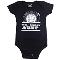 YoungPunks Baby Cool Like my Aunt Onesie 12-18 Months Black