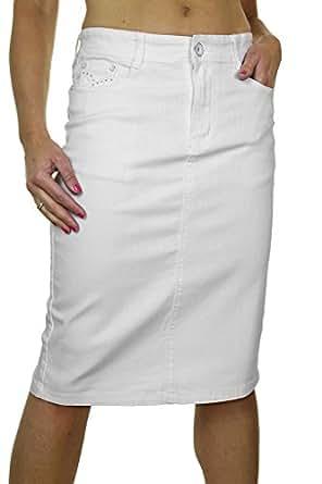 2521 1 plus size stretch textured denim skirt