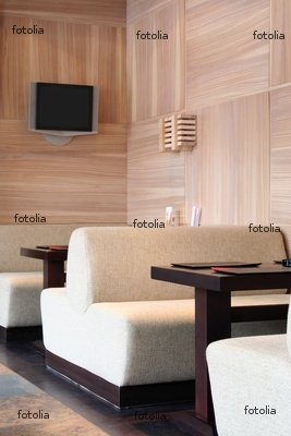 """Wallmonkeys Peel and Stick Wall Graphic - Interior of the Japanese Restaurant - 18""""H x 12""""W"""