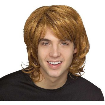 Fancy Dress Wig 70s shag style Dark Blonde