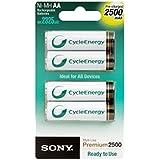Sony - Pile Rechargeable - 2500 mAh - AA x 4 - Premium (LR6)