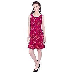 TUNTUK Women's Alia Dress Pink Cotton Dress