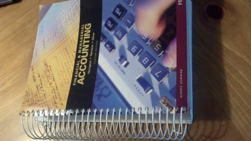 Financial and Managerial Accounting Horgren 2nd Edition