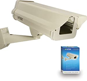 Vitek VT-EH10 Indoor/Outdoor Camera Enclosure and Wall Mount Combo (Beige)