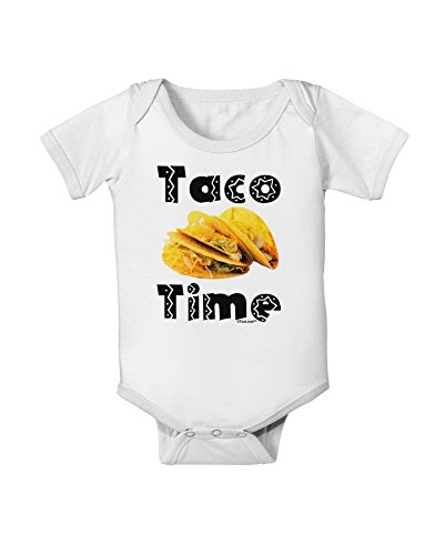 TooLoud Taco Time - Mexican Food Design Baby Romper Bodysuit
