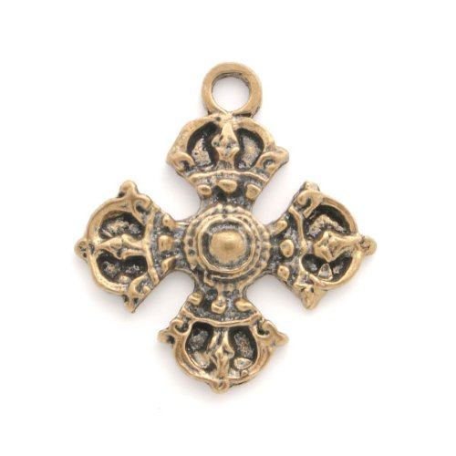 Unique Antique Style Bronze Cross