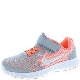 New Nike Girl\'s Revolution 3 Athletic Shoe Mango/Grey 13