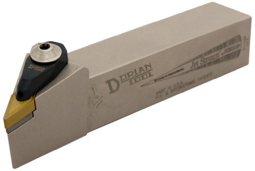 Dorian Tool ADVJN Jet-Stream Square Shank Chromium Molybdenum Alloy Steel Thru-Coolant Turning Holder, Right-Hand Cut, 1-1/4