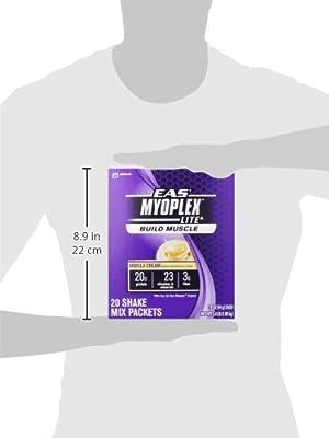 Batido de Proteína EAS Myoplex Lite sabor crema de vainilla, paquetes de 1.9 onzas, 20 paquetes