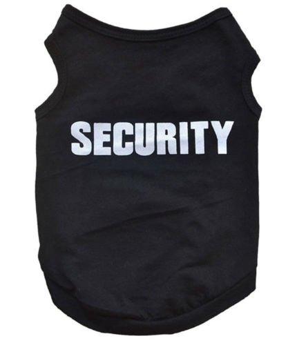 Maglia maglietta Security Dog abbigliamento vestito t shirts cane cucciolo TAGLIA M
