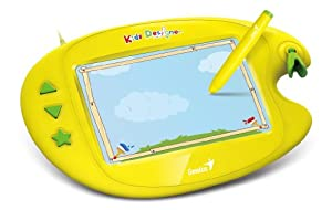 Genius Graphic Tablet Bundle with 15 Educational Games (Kids Designer II)