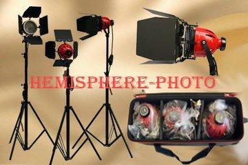 redhead-lot-de-3-projecteurs-redhead-avec-pieds-sacs-de-transport-et-6-ampoules-dxx-800-w-48-m