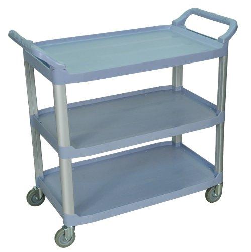 LUXOR SC13-G Large 3-Shelf Serving Cart, 37.25