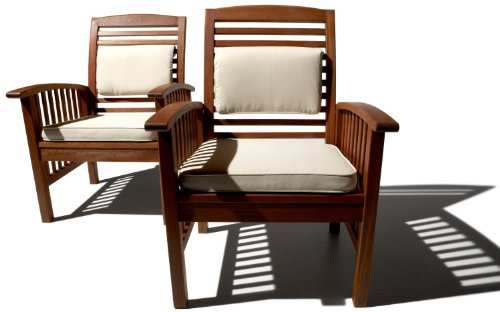 Strathwood Gibranta All-Weather Hardwood Lounge Chairs Set of 2