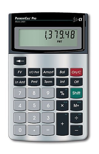 Calculated Industries 3401 Mortgage PaymentCalc Residential Mortgage Finance Calculator
