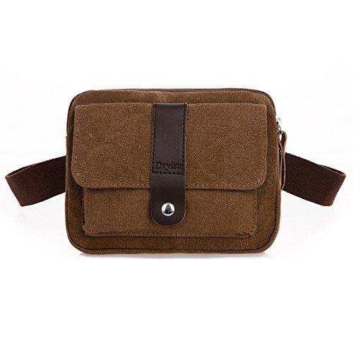 U-TIMES-Unisex-Casual-Style-Multi-pocket-Canvas-Waist-Pack-Runner-Belt-Pouch