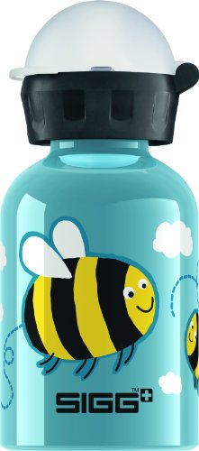 Sigg Bumble Bee Water Bottle, Blue, 0.3-Liter front-401483