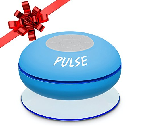 Pulse Wireless Waterproof Bluetooth 4.0 Shower Speaker-Compatible with all cellphones including iPhone 7 (Sound Shower compare prices)