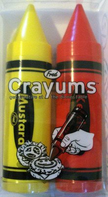Review Of Fred and Friends Crayums Kethup Mustard Condiment Servers