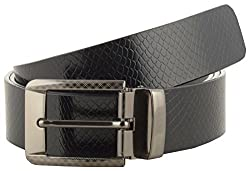 Jackblack Men's Leather Belt (SEVP029, Black, 30)