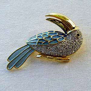 Gold Plated Crystal Enamel