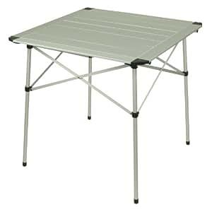 10T Alutab Light - Camping-Tisch 70x70cm mit Lamellensystem-Tischplatte Aluminium handliches Packmaß
